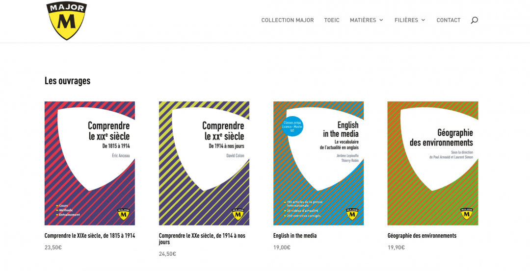 Collection Major - Editions Belin Education